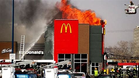 In Pictures: Firefighters battle blaze at McDonald's | CTV